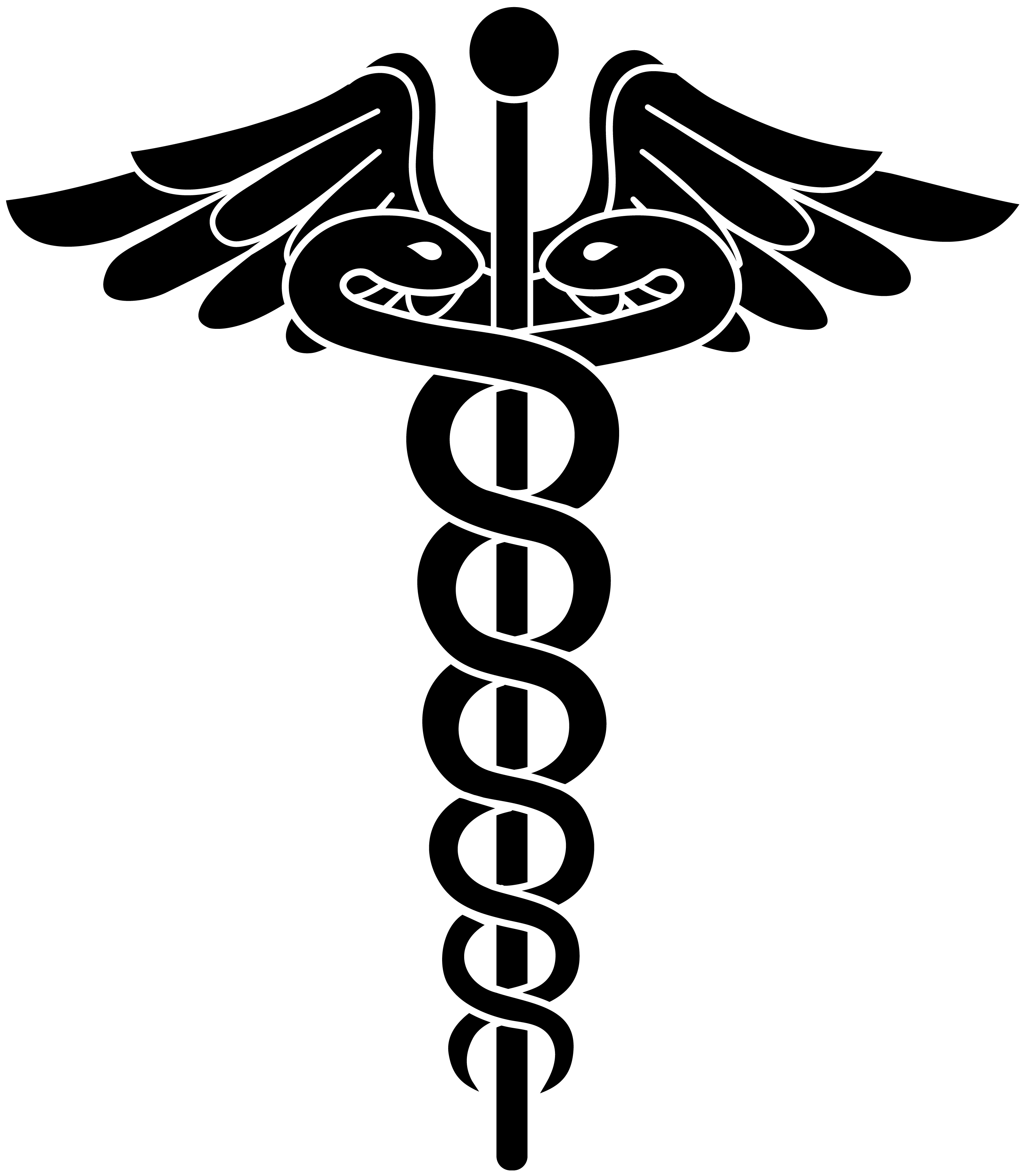 picture library library Vector doctor logo. Health legal caduceus black