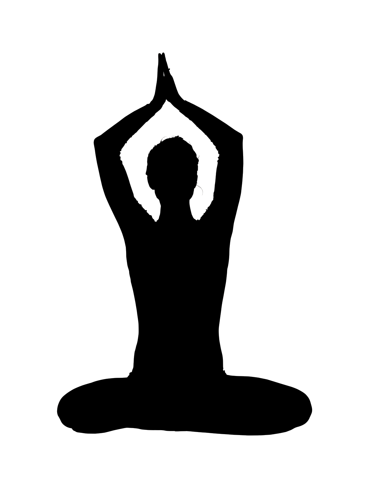 clip transparent download yoga clipart black and white #59336077