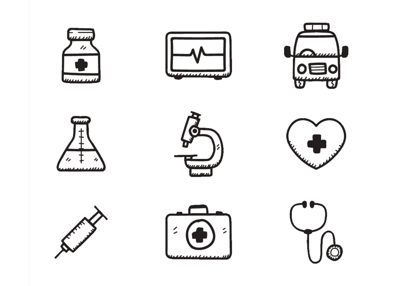 banner black and white download Health drawing. Care icon research syringe