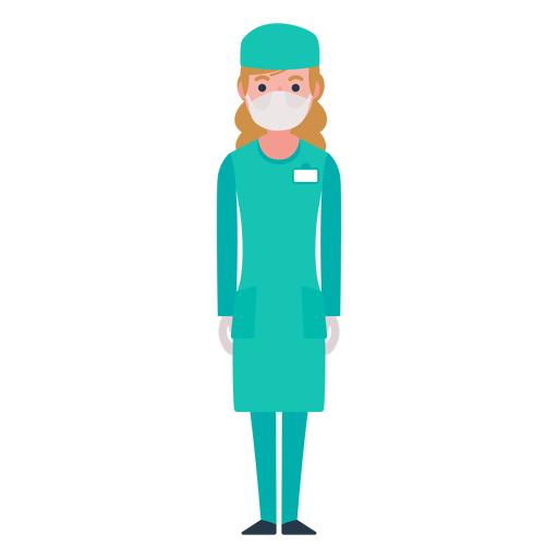 graphic royalty free stock Vector doctor nursing. Flat nurse character png