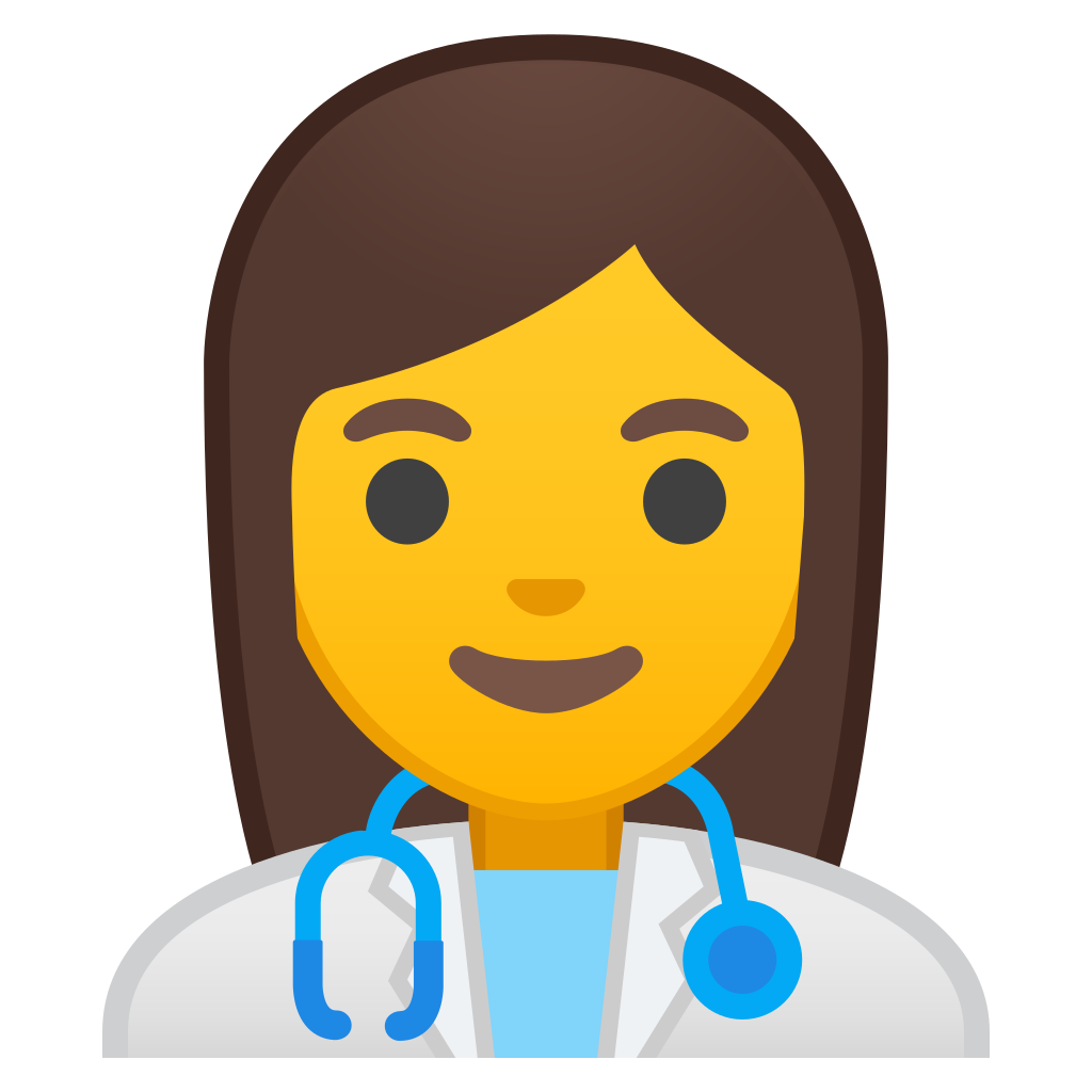 image black and white download Woman health worker Icon