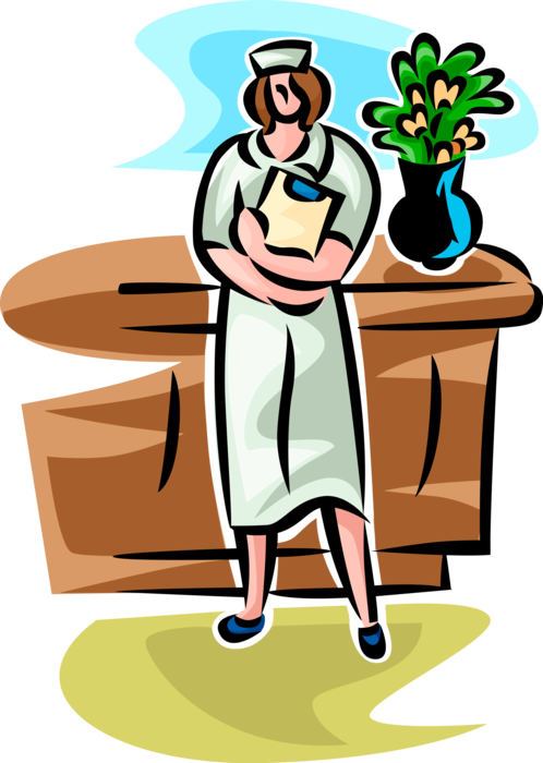 image free library Nurse with Clipboard