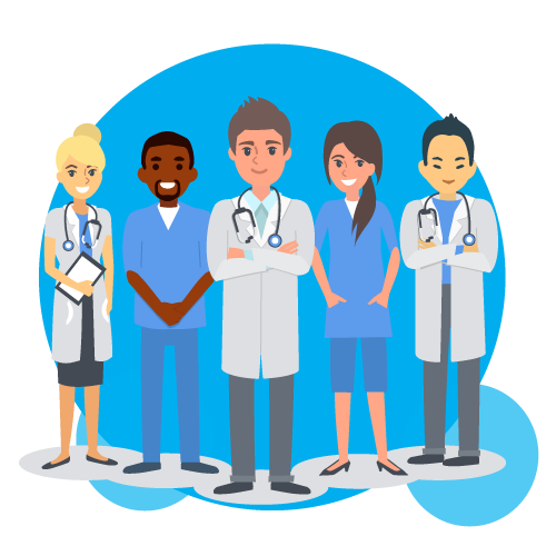 banner library library Staff Clipart health care professional