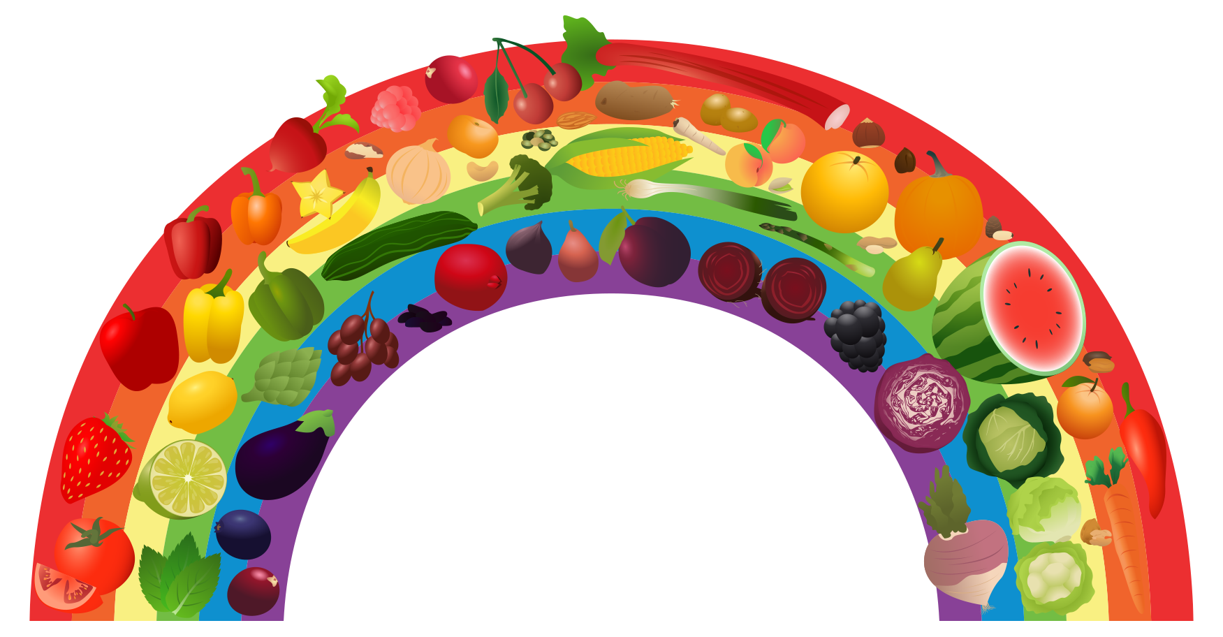 free library Healthy clipart. View rainbow png free.
