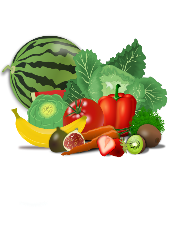 clip art stock Healthy clipart. Food vegetables fruit illustrations.
