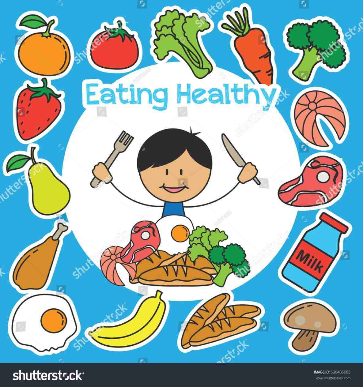 png free stock Healthy foods for kids clipart. Eating of .