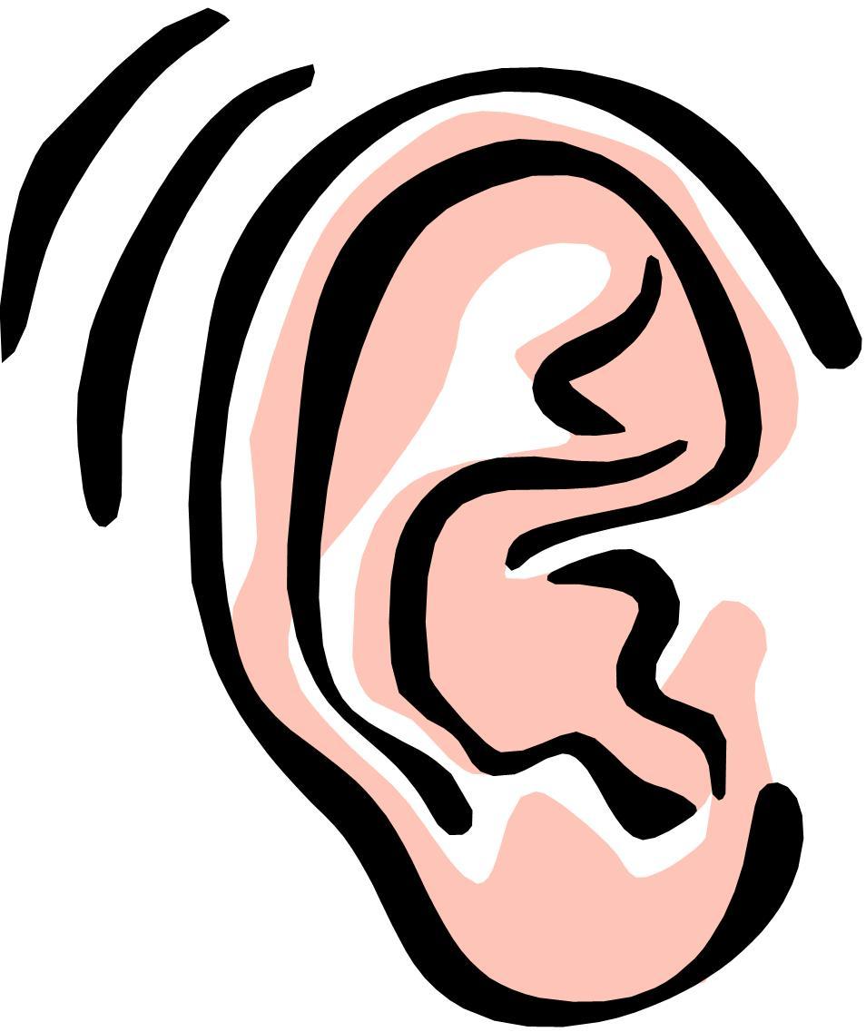 svg transparent Hearing clipart.  hear clip art.