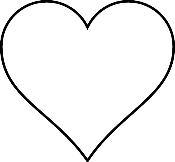 black and white download Heart outline clip art. Pillow clipart black and white