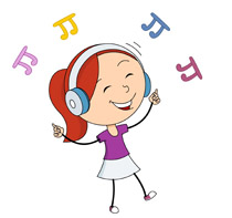 image transparent Hear clipart girl. Free listen music cliparts