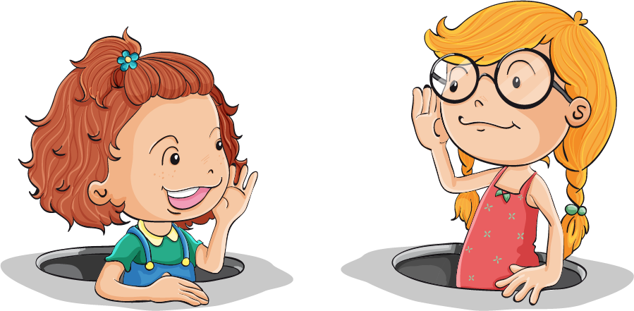 clip art black and white Kids talking to each other clipart. Learning english vocabulary
