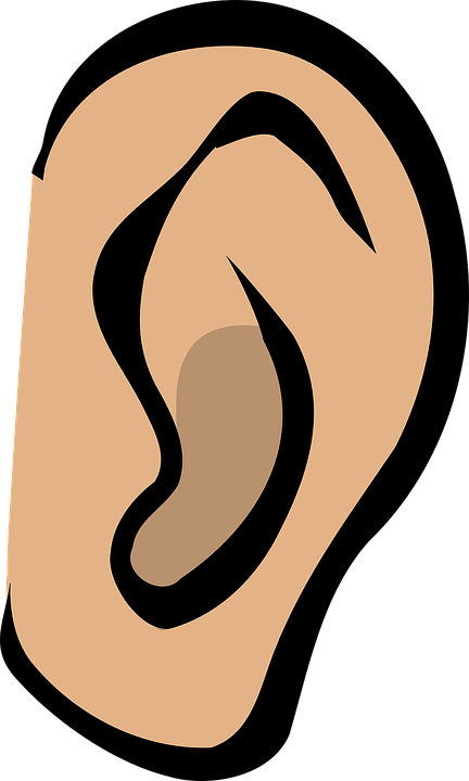 clip Free png transparent images. Listening clipart listening ear.