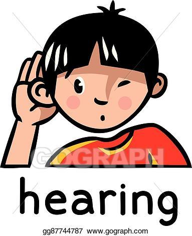 clip art transparent stock Hearing clipart. Eps vector sense icon.