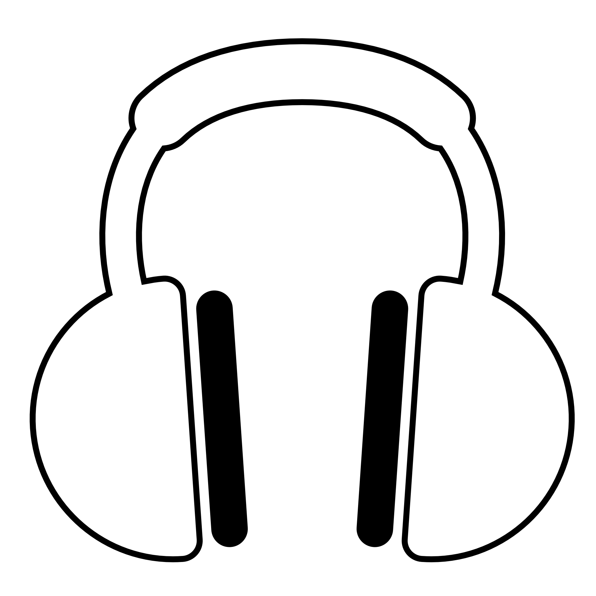 graphic library download Listening To Music Clipart Black And White