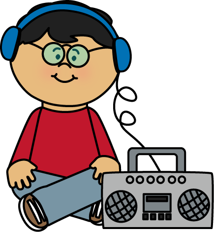image royalty free library listening to headphones clipart #64659647