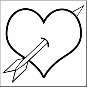 png black and white Clip art b w. Heart and arrow clipart.