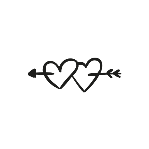 clipart free Two black png transparent. Heart and arrow clipart.