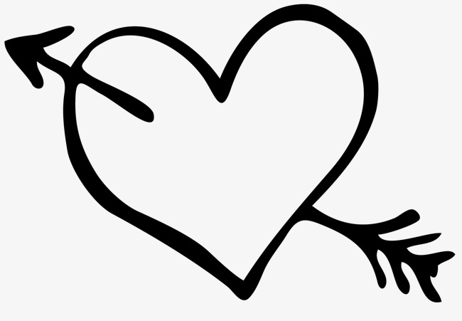 clipart library stock Heart and arrow clipart. With black white station.