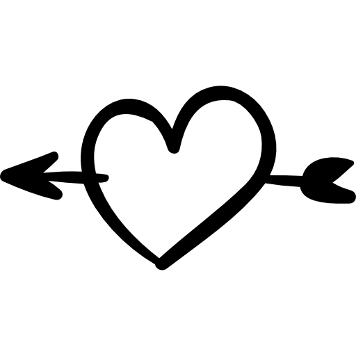 clipart black and white stock Heart and arrow clipart. Saint valentine outline icon.