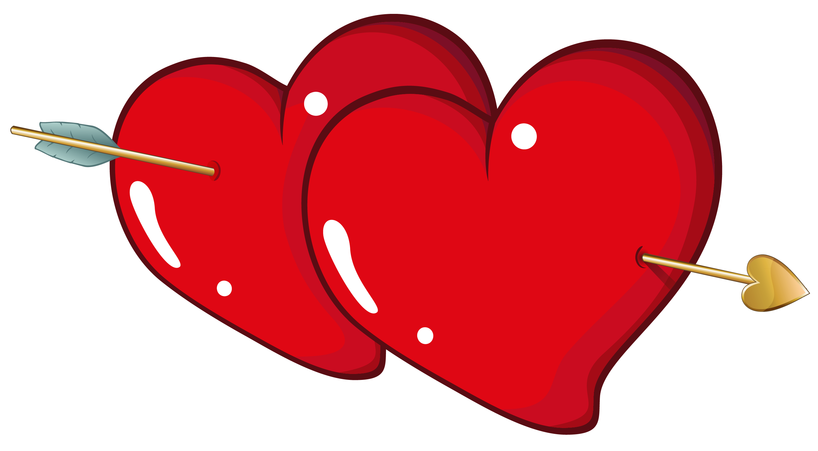 picture transparent library Valentine Hearts with Arrow PNG Clipart Picture