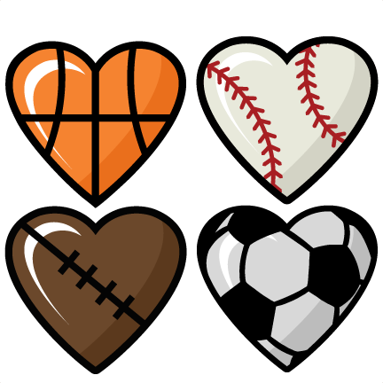 clipart library download Sports Hearts Set scrapbook cut file cute clipart files for