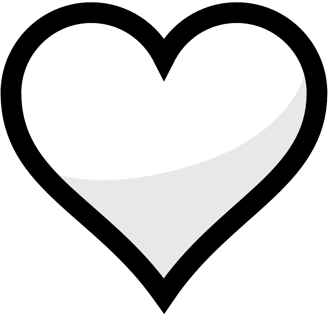 image black and white library Clipart Heart Black And White