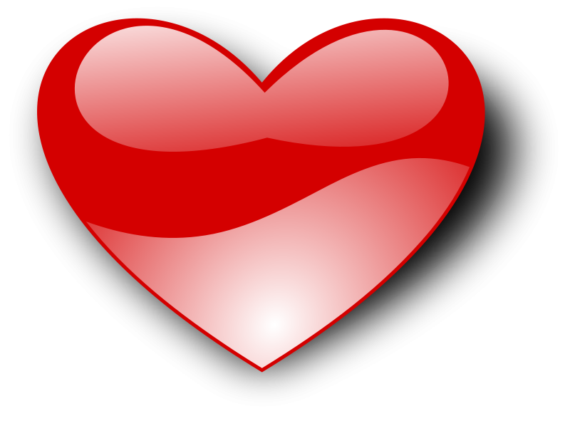 image Free love and romance. Heart clipart