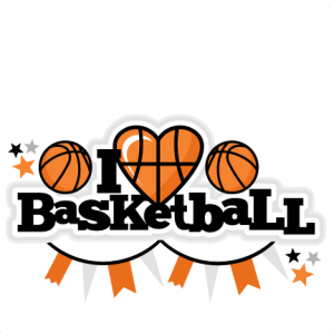 clip art library stock I Heart Basketball Title