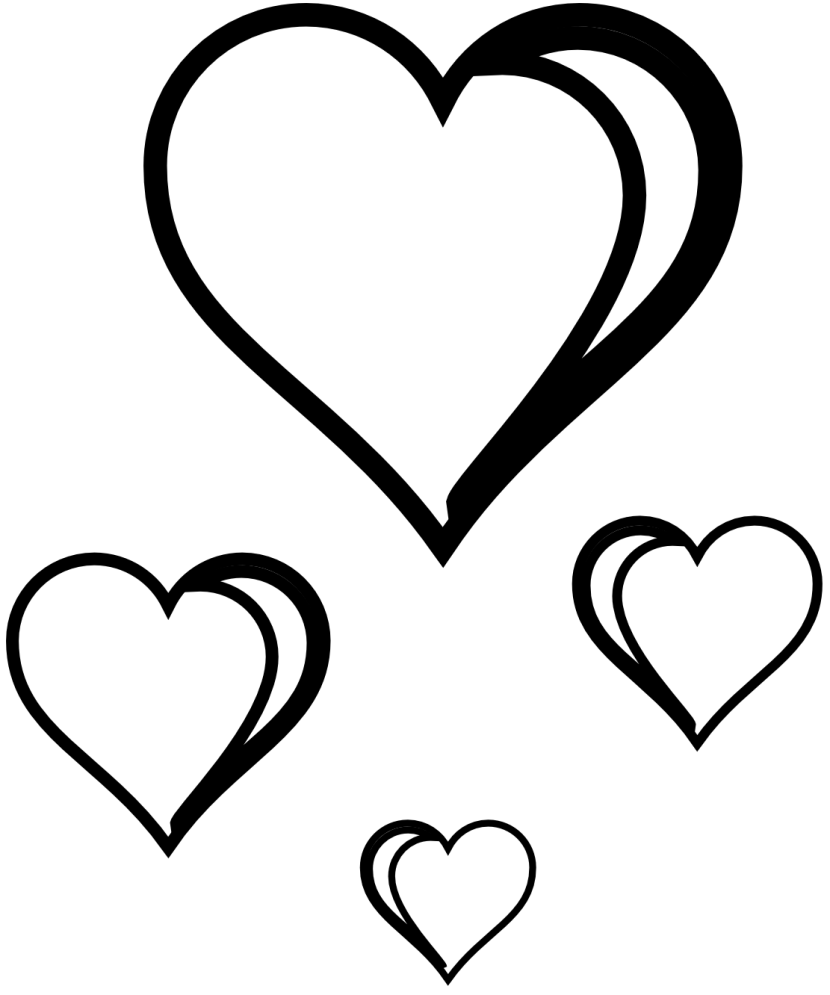 image free Heart clipart black. Best and white clipartion