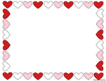 free library Valentine borders clipart. Free heart border download