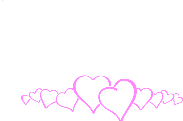 picture black and white stock Clipart hearts borders. Heart pink clip art