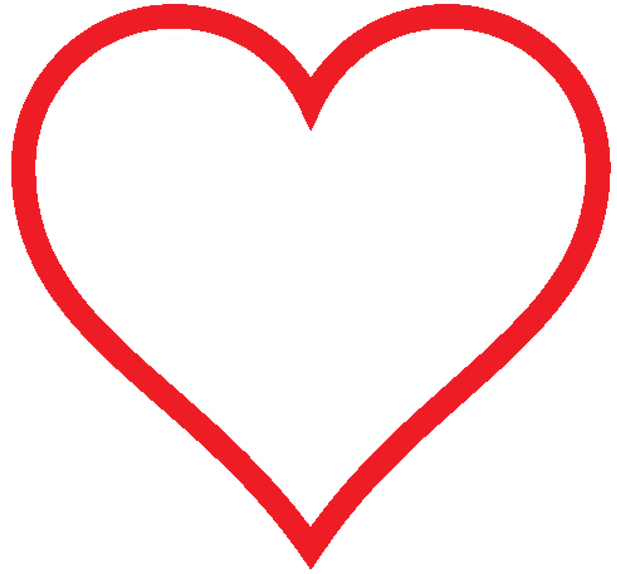 svg freeuse stock Simple Heart Clipart at GetDrawings