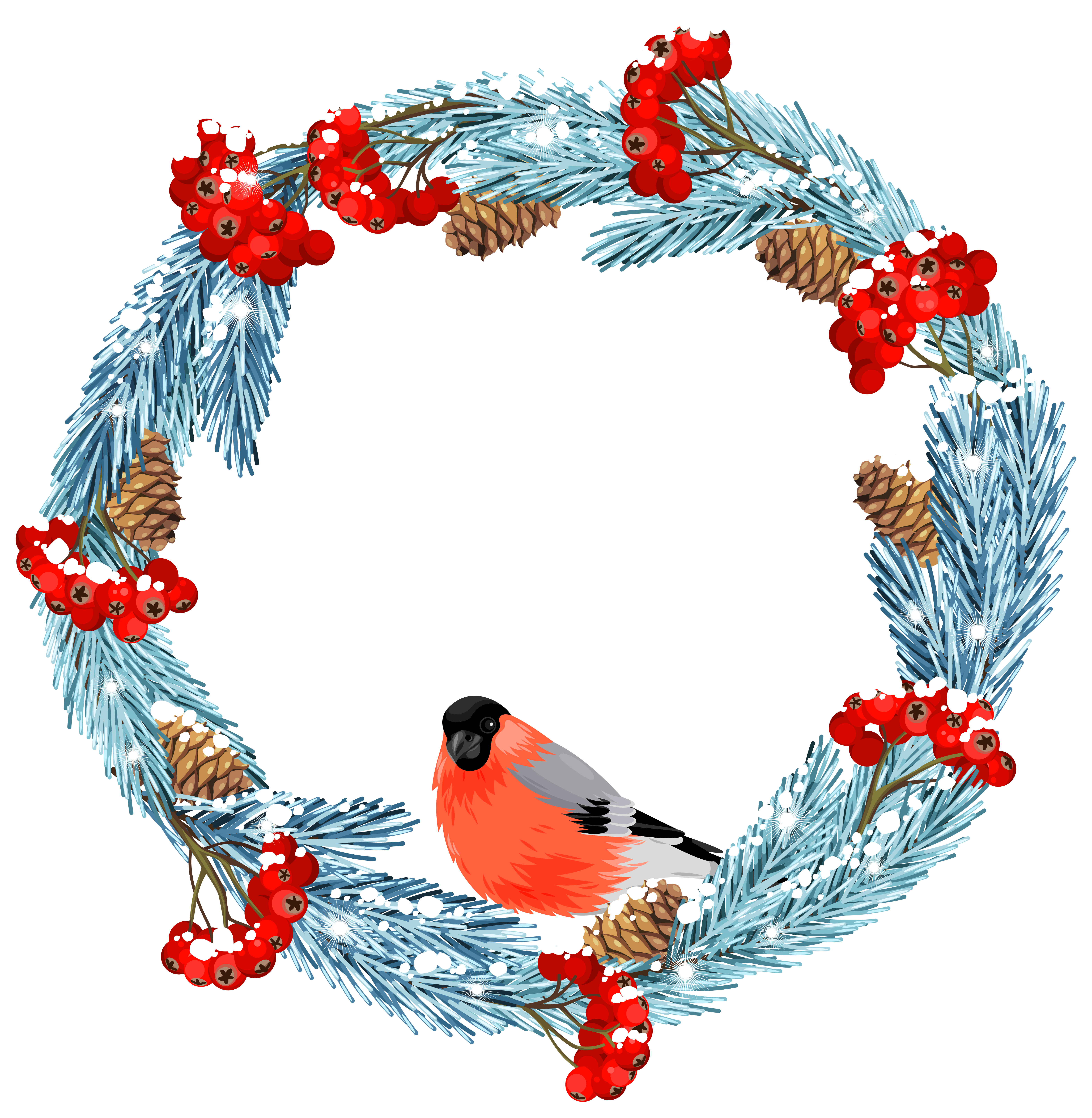 png transparent download Snowboard clipart printable. Blue winter wreath with