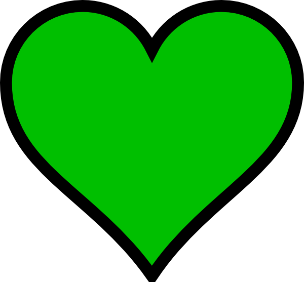 png black and white Green Heart Or Clover Leaf Clip Art at Clker