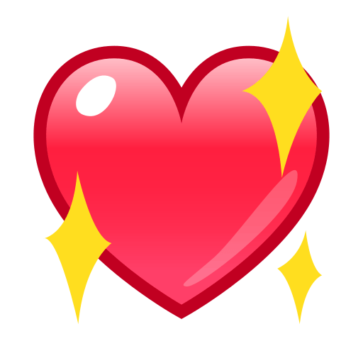png freeuse stock Sparkling Heart Emoji for Facebook
