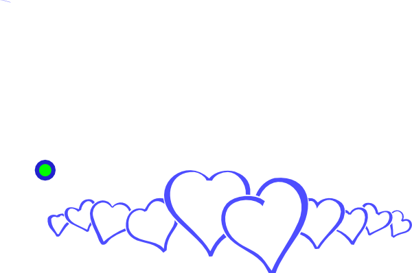 image freeuse library Blue Heart Line Clip Art at Clker