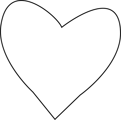 vector library library Heart Outline Clipart Black And White