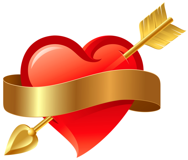 svg transparent Arrows with hearts clipart. Red heart arrow png.