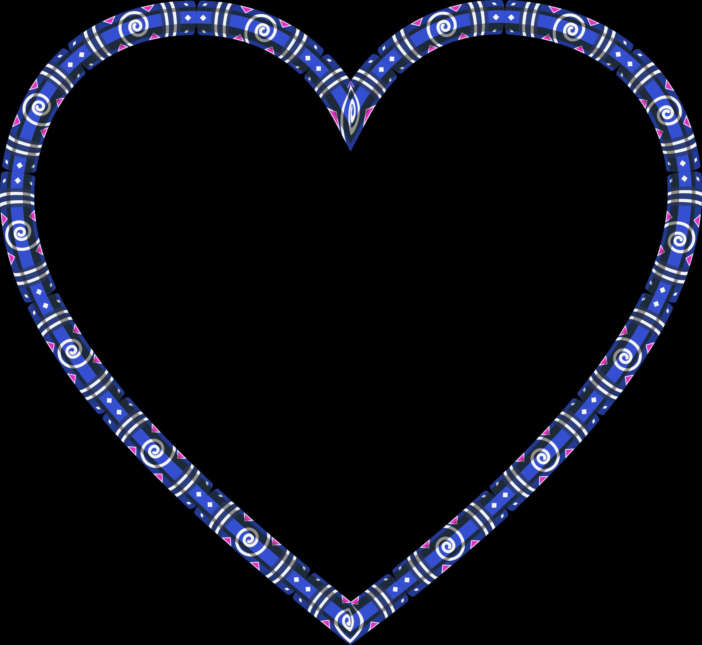 image stock Decorative heart frame variation. Heartbeat clipart