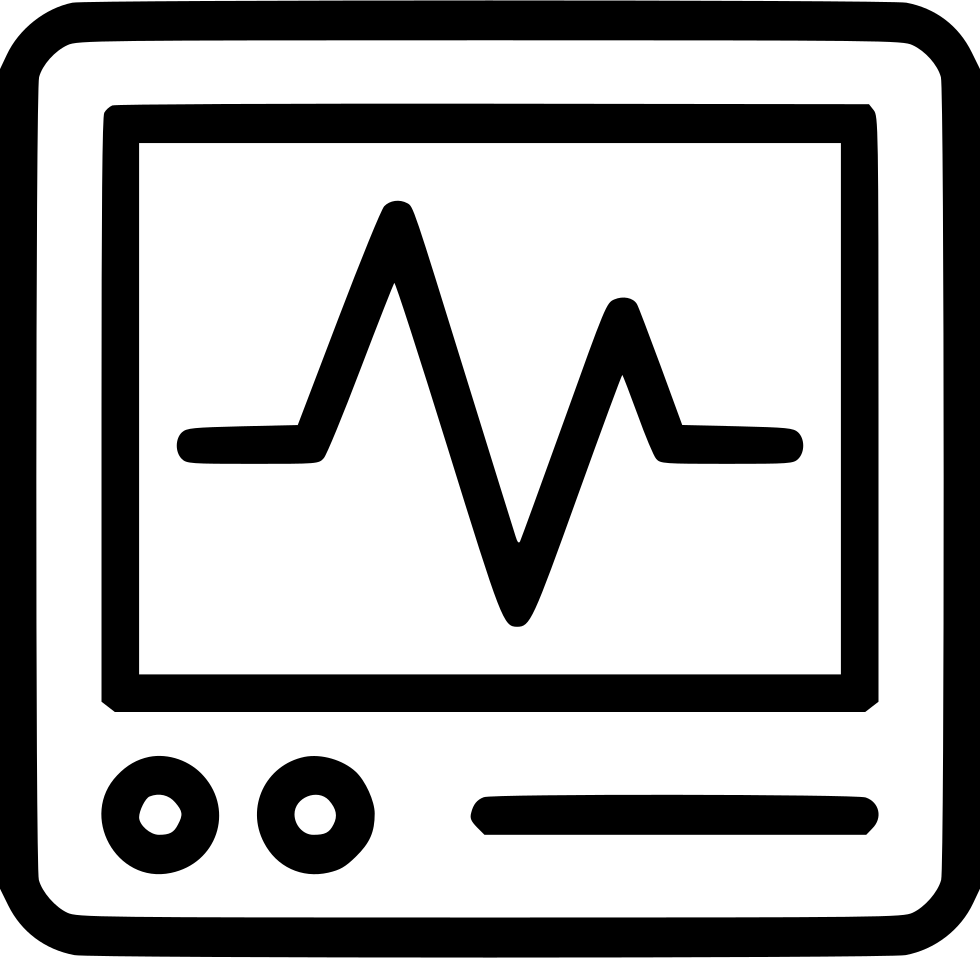 vector transparent stock Heart monitor pulse cacrdiology. Heartbeat clipart black and white