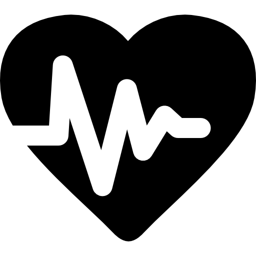 jpg freeuse download Heartbeat clipart black and white. Lifeline icon