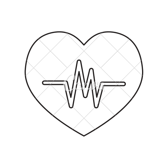 banner black and white stock Heartbeat line clipart black and white. Drawing at getdrawings com