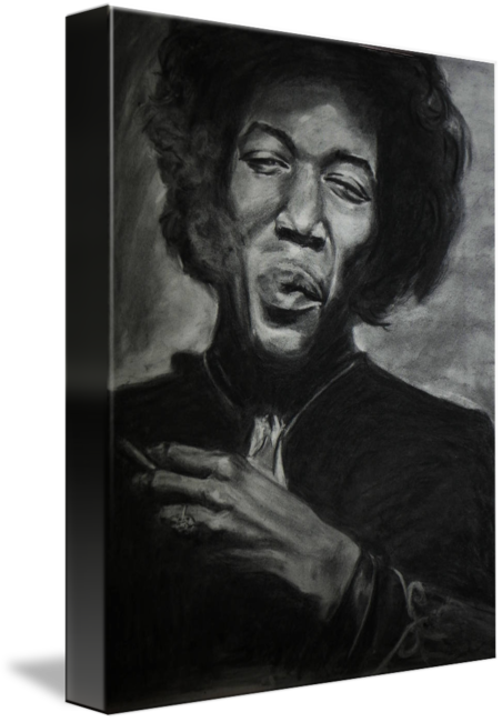 jpg freeuse library Jimi hendrix by kira. Drawing portrait charcoal