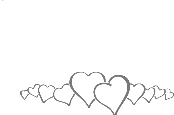 clipart freeuse stock Hearts In A Line Clip Art at Clker