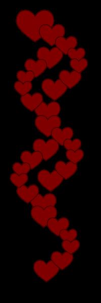 graphic freeuse Heart clip art panda. Hearts border clipart