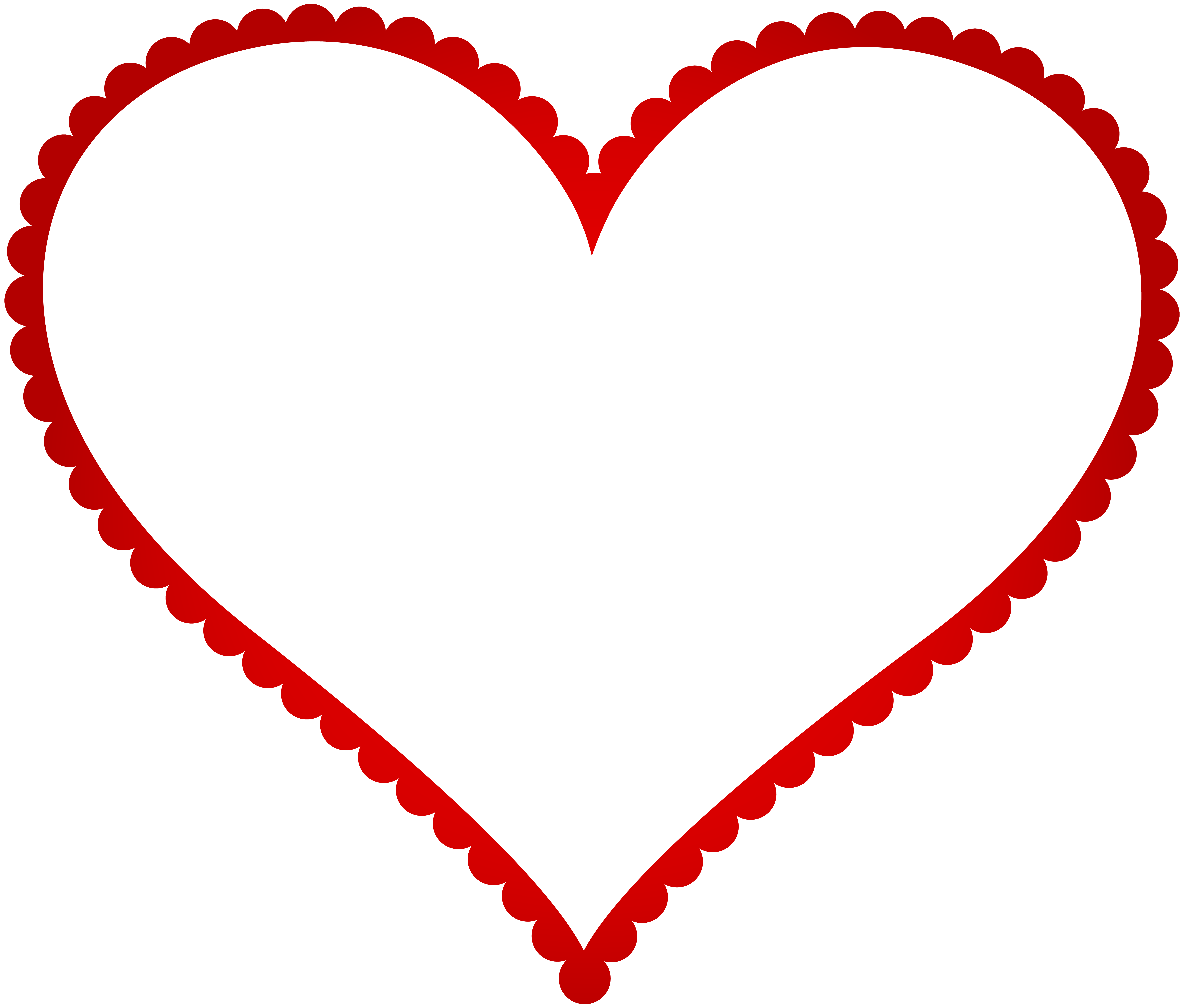vector black and white Hearts border clipart. Red heart frame transparent