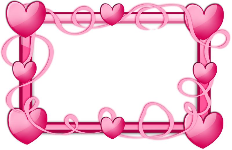 graphic transparent stock Hearts border clipart. Pink free stock photo
