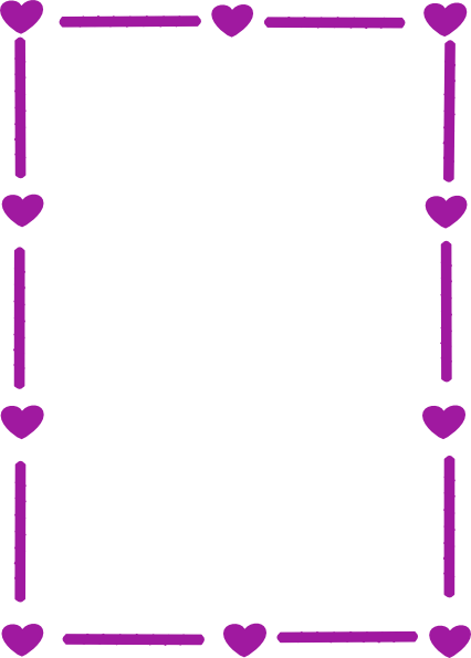 library Hearts clip art panda. Violet clipart border.