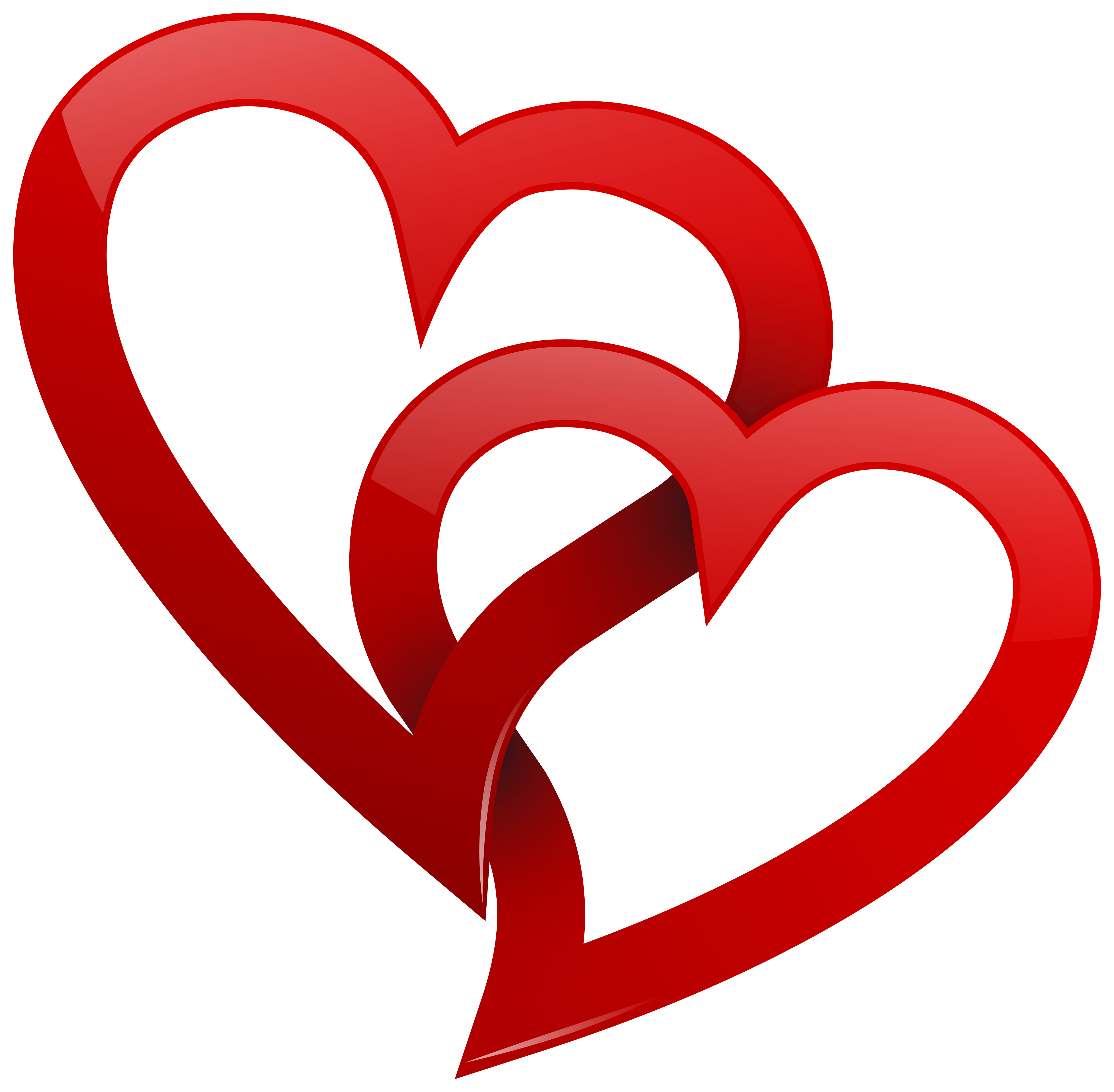 transparent stock Hearts clipart. Two red png best