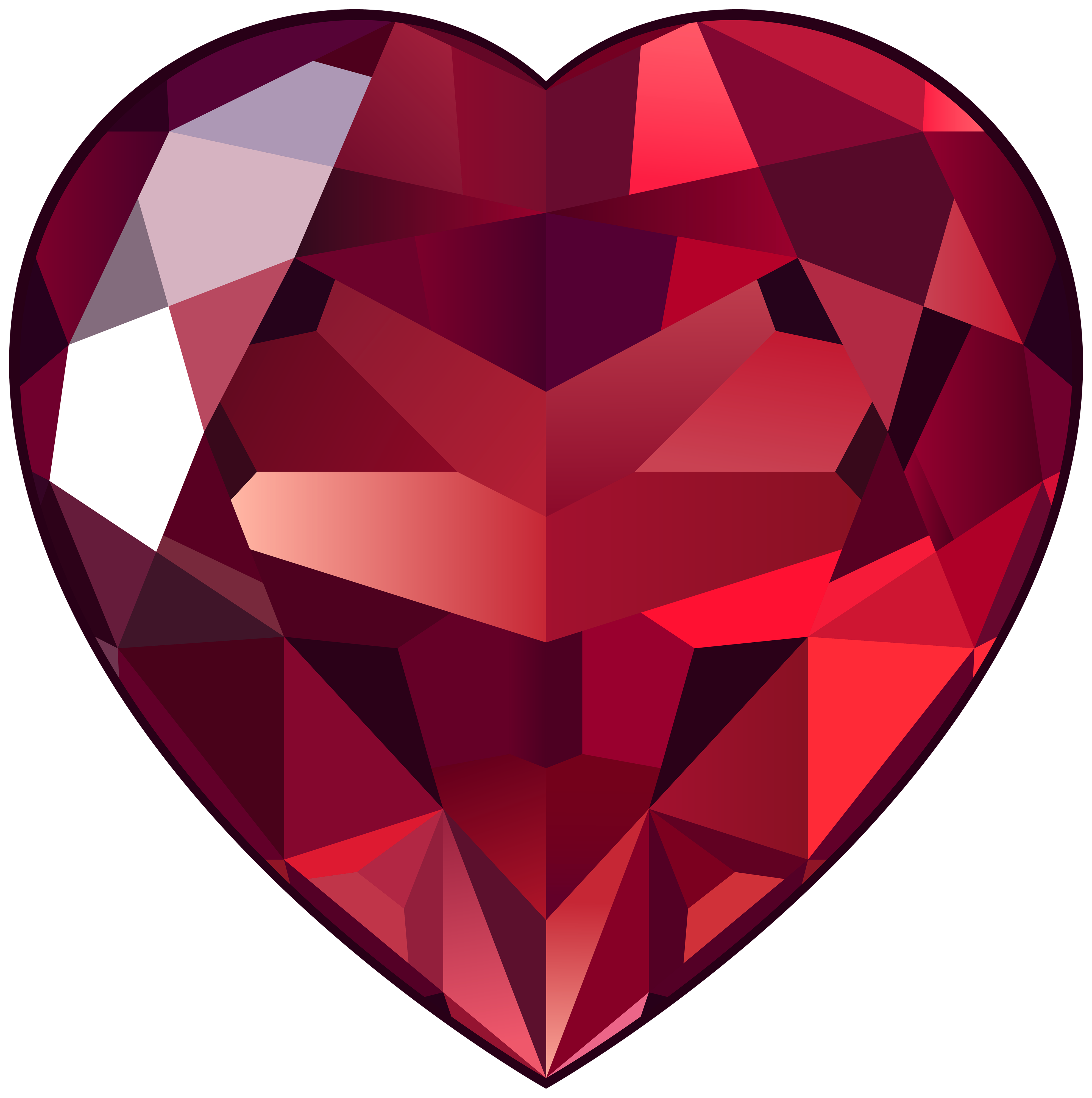 image black and white download Ruby Heart PNG Clipart