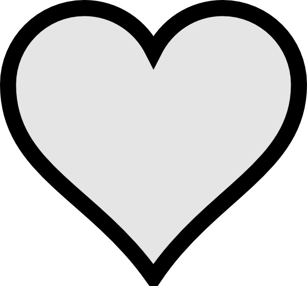 clipart free  collection of no. Heart clipart free black and white